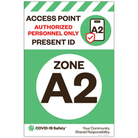 "Access Point Zone A2, for Sandwich Board (24""x36"")"