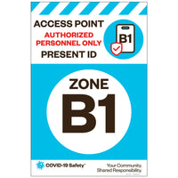 "Access Point Zone B1, for Sandwich Board (24""x36"")"