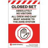 "Closed Set, for Sandwich Board (24""x36"")"