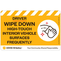 "Driver Wipe Down Interior Vehicle (6""x4"")"