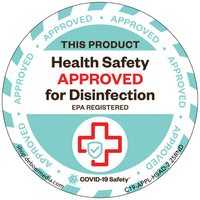 "Health Safety Approved for Disinfecting (2.25"" Round)"