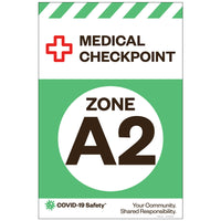"Medical Checkpoint Zone A2, for Sandwich Board (24""x36"")"