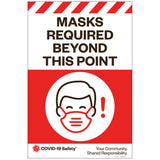 "Masks Required Beyond This Point, for Sandwich Board (24""x36"")"