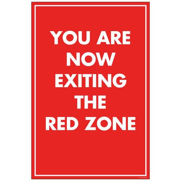 "NF Exiting Red Zone, for 24x36 Sandwich Board (24""x36"")"