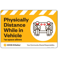 "Physically Distance While in Vehicle Decal (18""x12"")"