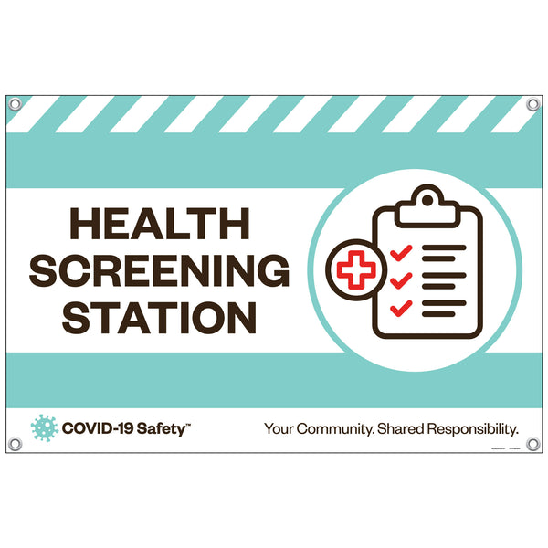 "Health Screening Station Banner (36""x24"")"