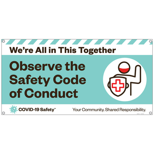 "WAITT: Observe the Safety Code of Conduct (48""x24"")"