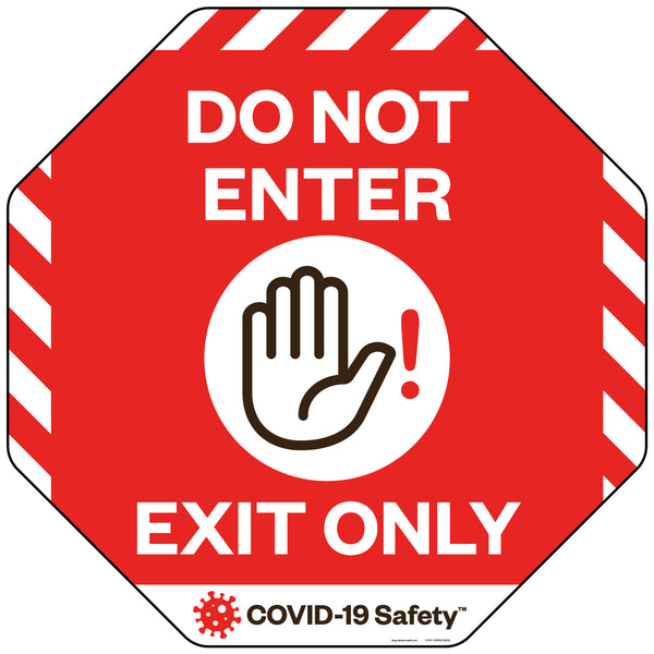 "Do Not Enter/Exit Only Floor Decal (22""x22"")"