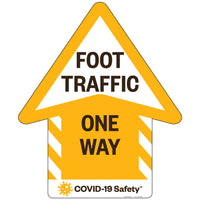 "Foot Traffic Directional Floor Graphic (18.375""x22"")"