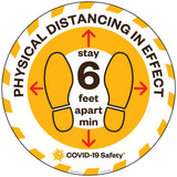 "Physical Distancing In Effect Floor Graphic (12""-22"" Round)"