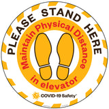 "Stand Here | Floor Decal (12"" Round)"