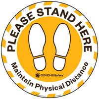 "Please Stand Here | Floor Decal (8"" Round)"