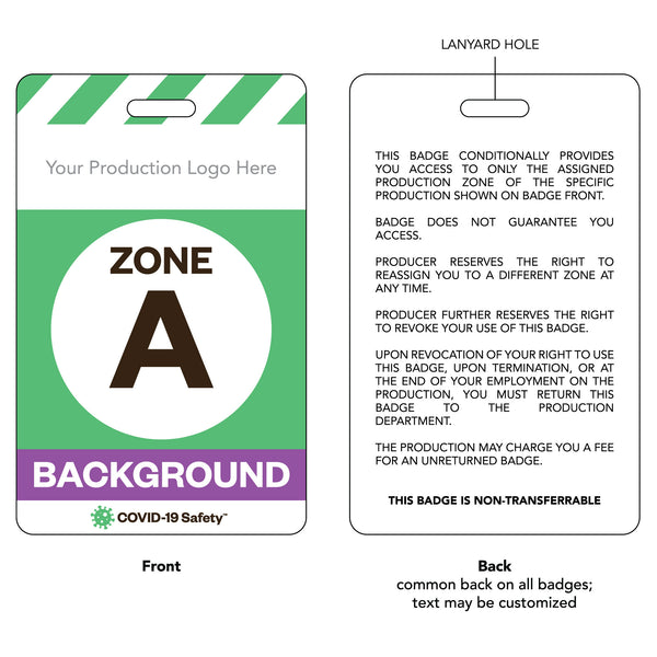 "Access Badge, Zone A, Background [10pc] (2.125""x3.375"")"