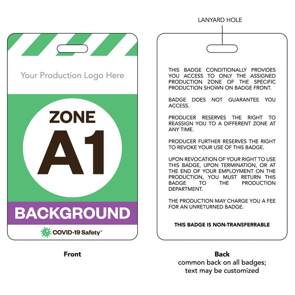 "Access Badge, Zone A1, Background [10pc] (2.125""x3.375"")"