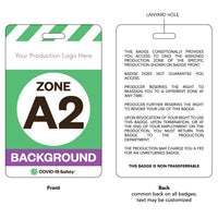 "Access Badge, Zone A2, Background [10pc] (2.125""x3.375"")"