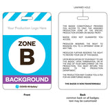 "Access Badge, Zone B, Background [10pc] (2.125""x3.375"")"