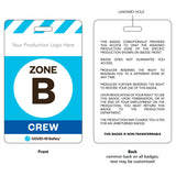 "Access Badge, Zone B, Crew [10pc] (2.125""x3.375"")"