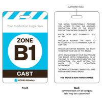"Access Badge, Zone B1, Cast [10pc] (2.125""x3.375"")"