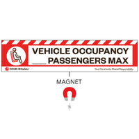 "Vehicle Occupancy Max Strip Magnet (26""x6"")"