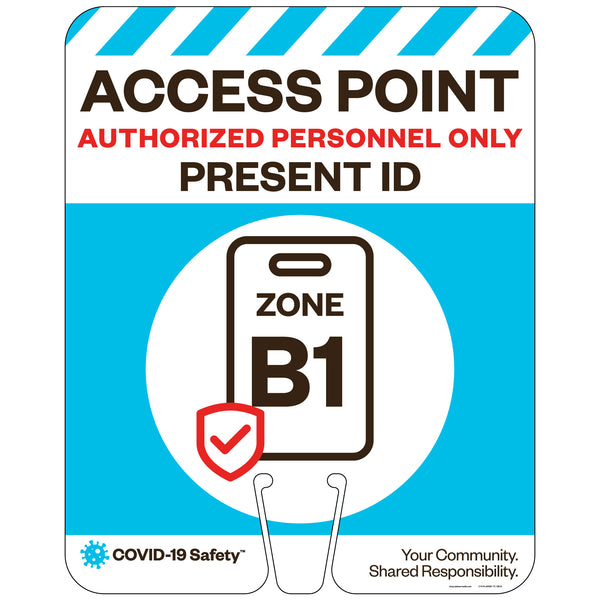 "Access Point Zones B1, for Traffic Cones (12""x15"")"