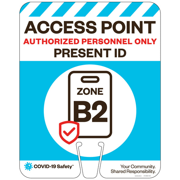 "Access Point Zones B2, for Traffic Cones (12""x15"")"