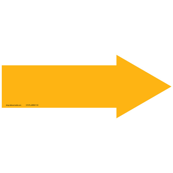 "Color Arrow, Yellow Decal (10"")"