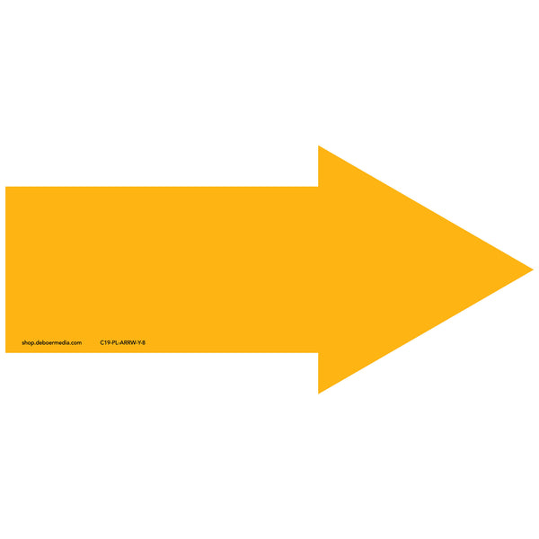 "Color Arrow, Yellow Placard (8"")"