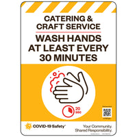Catering & Craft Service Wash Hands