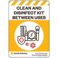 "Clean and Disinfect Kit, Hair & Makeup Between Uses (10""x14"")"
