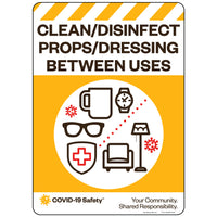 "Clean and Disinfect Props/Dressing Between Uses (10""x14"")"