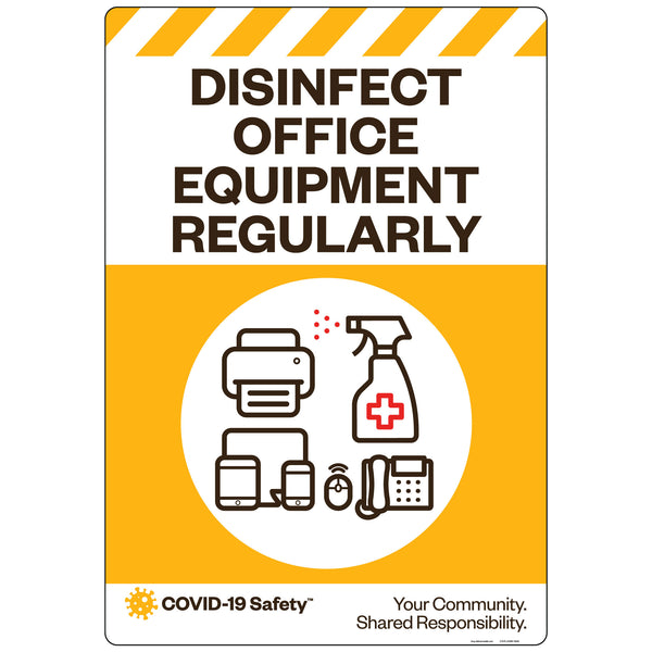 "Disinfect Office Equipment Regularly (18""x26"")"