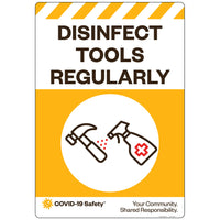 "Disinfect Tools Regularly (18""x26"")"