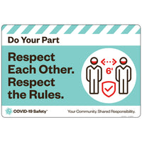 "DYP Respect Each Other, Respect the Rules (24""x16"")"
