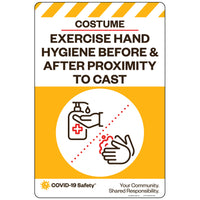 "Exercise Hand Hygiene Before & After Proximity to Cast, Costume (12""x18"")"