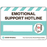 "Emotional Support Hotline (14""x10"")"