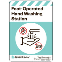 "Foot-Operated Hand Washing Station (10""x14"")"