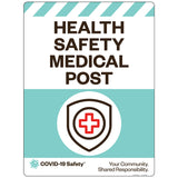 "Health Safety Medical Post (18""x24"")"