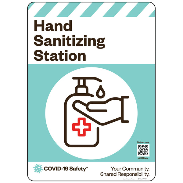 "Hand Sanitizing Station (10""x14"")"