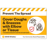 "PTS Cover Coughs and Sneezes with Elbow or Tissue (30""x20"")"