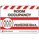 "Room Occupancy # Persons Max. (14""x10"")"