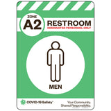 "Zone A2 Only Restroom, Men (10""x14"")"