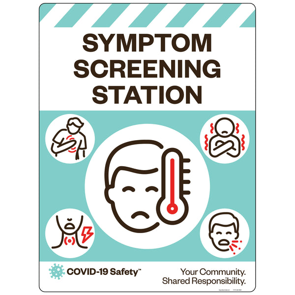 "Symptom Screening Station (18""x24"")"