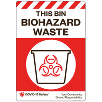 "This Bin Biohazard Waste (18""x26"")"