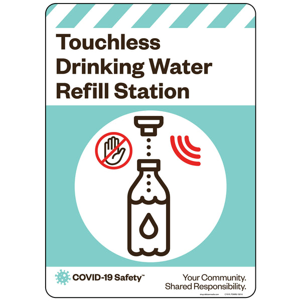 "Touchless Drinking Water Refill Station (10""x14"")"