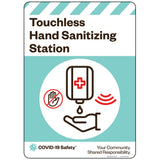 "Touchless Hand Sanitizing Station (10""x14"")"