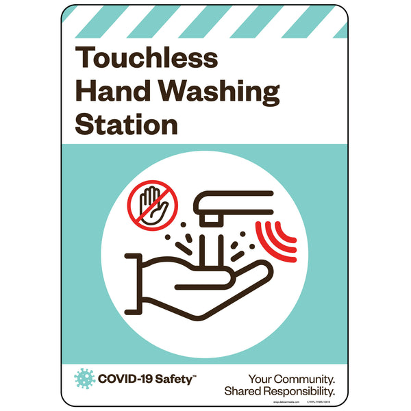 "Touchless Hand Washing Station (10""x14"")"