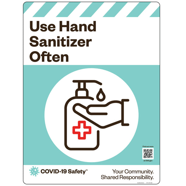 "Use Hand Sanitizer Often (18""x24"")"