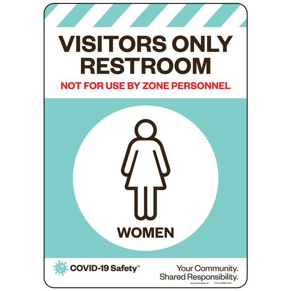 "Visitors Only Restroom, Women (10""x14"")"