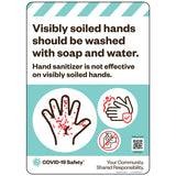 "Visibly Soiled Hands Should Be Washed (10""x14"")"