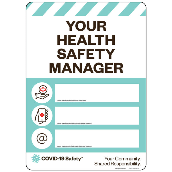 "Your Health Safety Manager (10""x14"")"